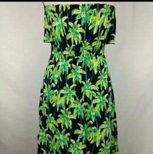 Crown & ivy tropical strapless dress